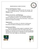Student Teaching Teacher Professional Expectations