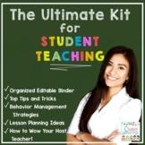 Student Teaching - Student Teacher Binder - Kit | DIGITAL & PRINT