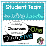 Student Team Building Labels
