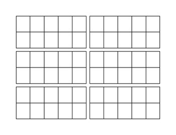 Student Ten Frame Cards