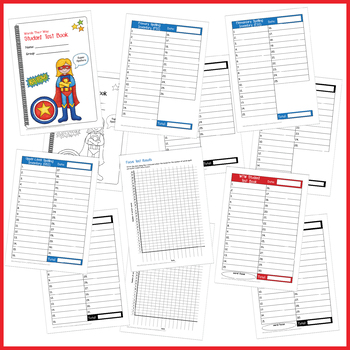 Student Test Book for Words Their Way (Superhero)