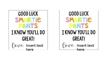 Student Test Motivational Tags (B&W and Colour)