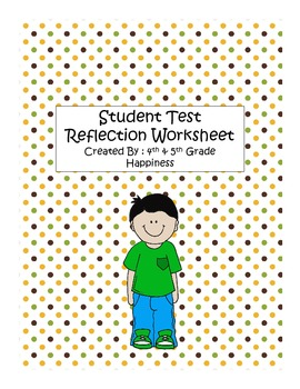Student Test Reflection Form - Common Core