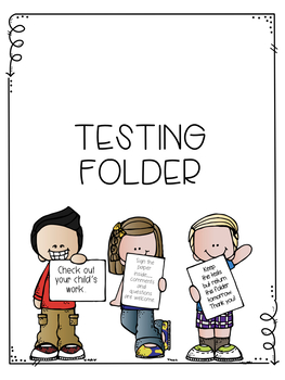 Editable Student Testing Folder Cover and Signature Page
