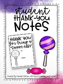 Student Thank You Notes