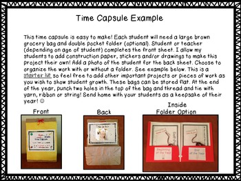 Student Time Capsule -Paper Bag Project! Great for Portfolio Assessment!