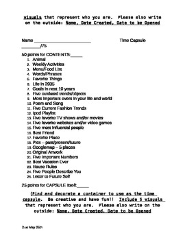 Student Time Capsule Project