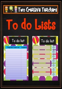Student To Do Lists