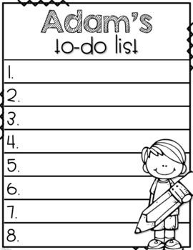 Editable Student To-Do Lists