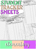 Student Tracker Sheets | Elementary