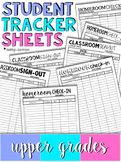 Student Tracker Sheets | Upper Grades