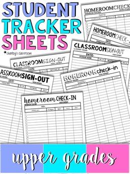 Student Tracker Sheets | Upper Grades