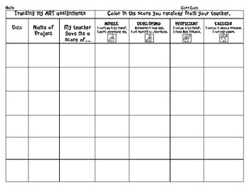 Student Tracking Art Assignments