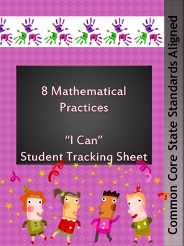 Student Tracking Sheet for CCSS-Mathematical Practices