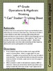 Student Tracking Sheet for Grade 4 CCSS Math: Operations &