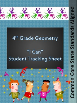 Student Tracking Sheet for Grade 4 Geometry