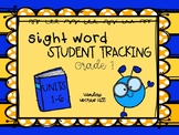 Student Tracking Sight Words McGraw Hill Wonders Grade 1