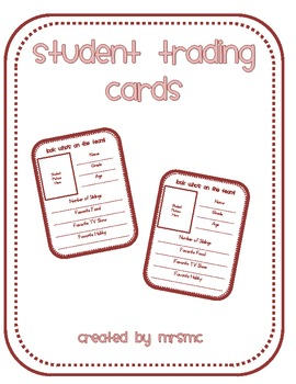 Student Trading Cards