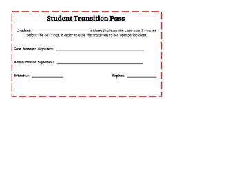 Student Transition Hall Pass