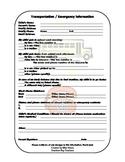 Student Transportation Emergency Info