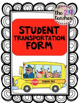 Student Transportation Form