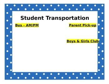 Student Transportation List
