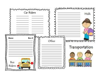 Transportation Organizer Form