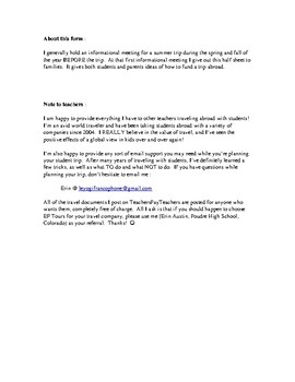 Student Travel Abroad : payment ideas