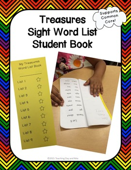Student Treasures Sight Word List Booklet