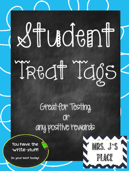 Student Treat Tags
