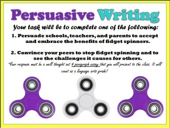 Student Trends persuasive Writing Prompt