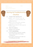 Student Troubleshooting Checklist- Hearing Aids