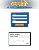 Student Tutorial for Creating a Website with Weebly.com