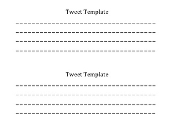 Student Tweet Template