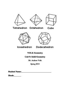 Student Unit Notebook: 3D Solids
