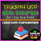 Student Use Book/ Novel Contract For Students
