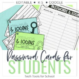 Student Username & Password Cards