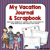 Student Vacation Journal and Scrapbook