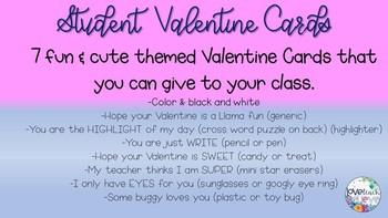 Student Valentine Cards