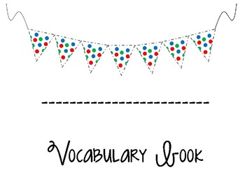 Student Vocabulary Book