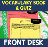 Front Desk by Kelly Yang Vocabulary Activities and Quiz