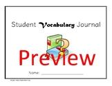 Student Vocabulary Journal/ ESL