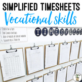 Student Vocational Timesheets - Life Skills Career Money Management