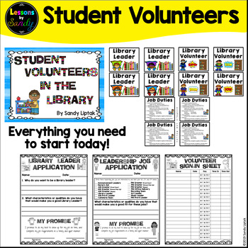 Student Volunteers in the Library