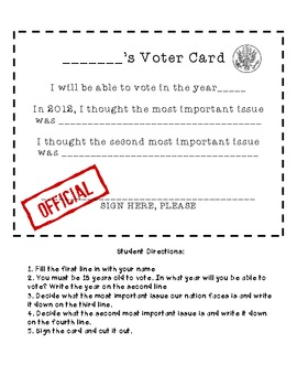 Student Voter Card