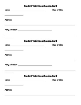 Student Voter ID Card