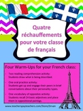 Four Student Warm-Ups for your French Class