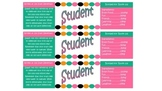 Student Water Bottle Labels