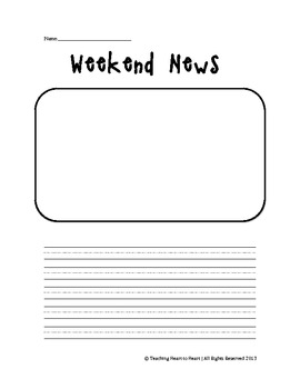 Student Weekend News Writing Form