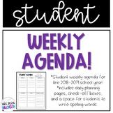 Student Weekly Agenda 2017-2018